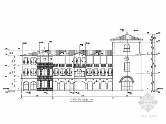 [云南]三层框架结构会所结构施工图(含建筑图)
