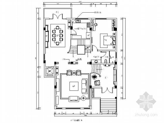 [四川]时尚欧式风格三层别墅室内装修图(含效果)