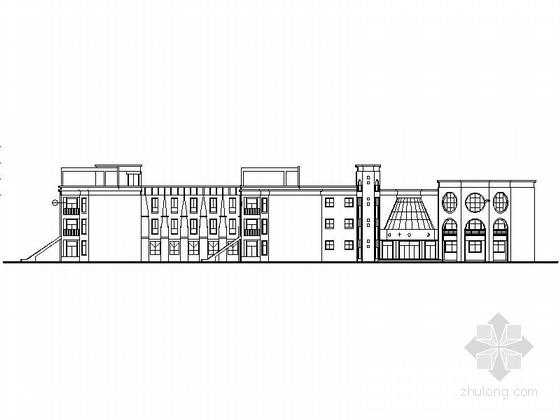三层现代风格市级幼儿园教学楼设计施工图