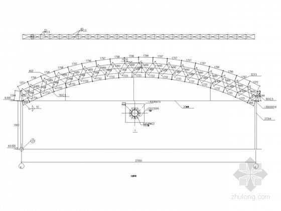 27米跨钢桁架结构施工图