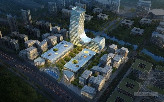 [广东]现代风格高科技卫星城规划及建筑设计方案文本