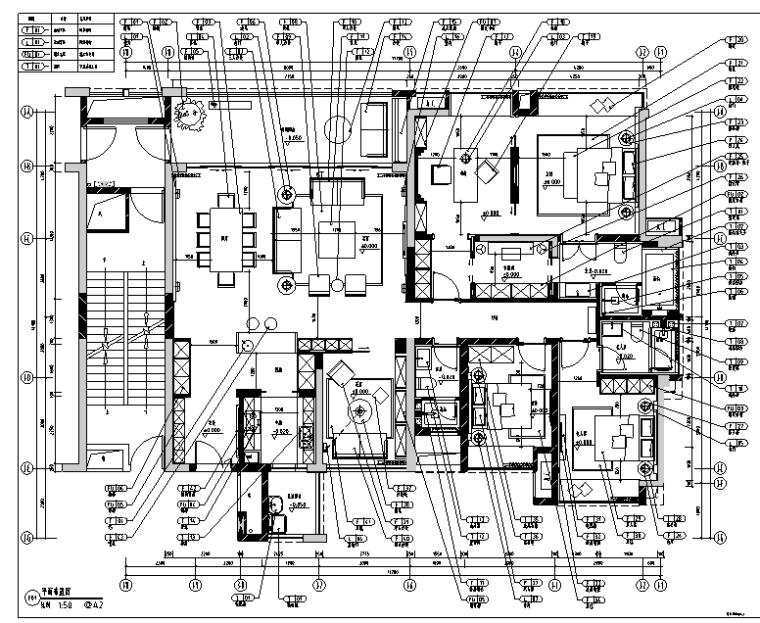 鼎峰源著三期三居室样板房设计施工图(附效果图+方案)