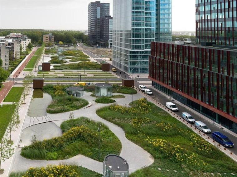 荷兰地下停车场屋顶公园
