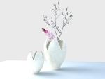 海螺花纹雕花瓶3D模型下载