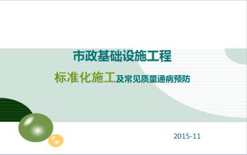市政基础设施工程标准化施工及常见质量通病预防(图文丰富)