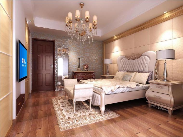 舒心欧式卧室3D模型下载