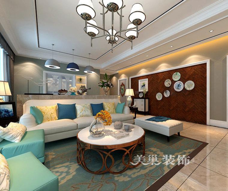 131平舒适美式装修,经典土褐色绿色装扮质朴空间