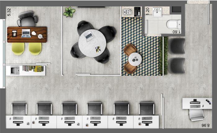 小型办公室设计方案