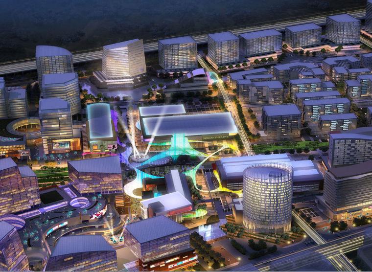 [浙江]高层现代多功能城市综合体建筑设计方案文本(含景观设计)