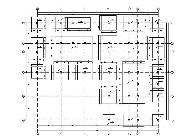 倒L型框架建筑图结构图计算书(7000平米左右)