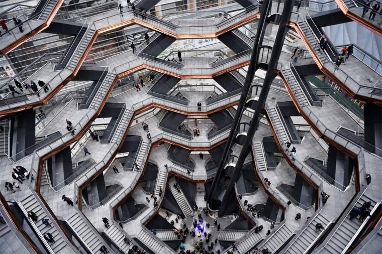 vessel楼梯资料下载-纽约哈德逊广场'Vessel'   Heatherwick Studio