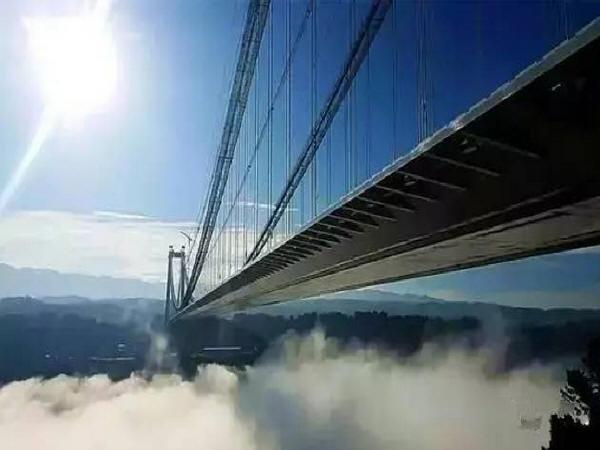 """[分享]""""亚洲第一大桥""""龙江特大桥通车了!云雾浩渺太壮观了!图片"""