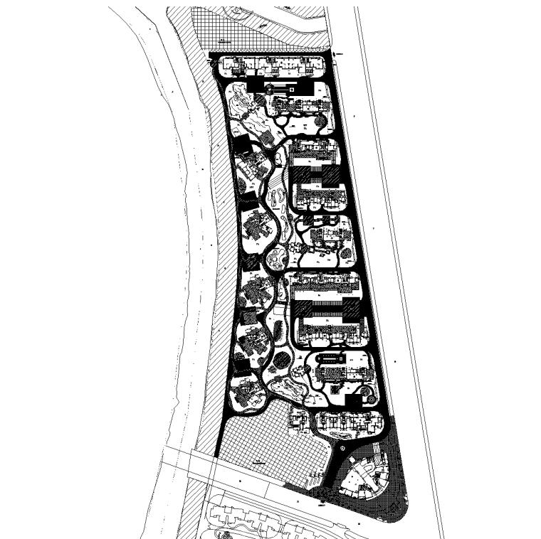 [浙江]杭州朝晖现代城居住区全套景观CAD施工图(含手绘平面图)