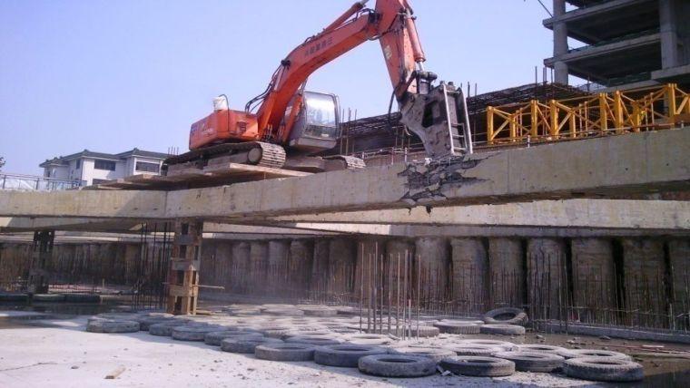 深基坑混凝土支撑体系机械拆除施工工艺_10