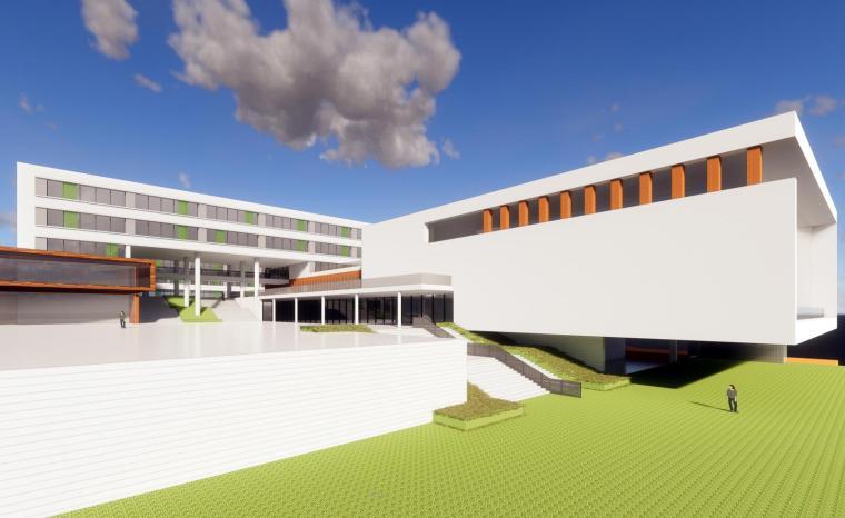 [山东]青岛虎山路二小学校建筑模型设计(2018年)