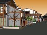 东方古典主义风格,2层商业模型设计.skp