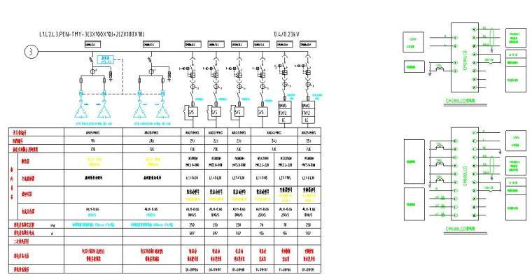 纪庄子污水处理厂迁建工程图纸-马达控制中心低压系统图