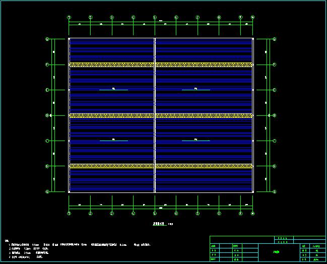 门式刚架带夹层结构二层厂房建筑结构施工图_8