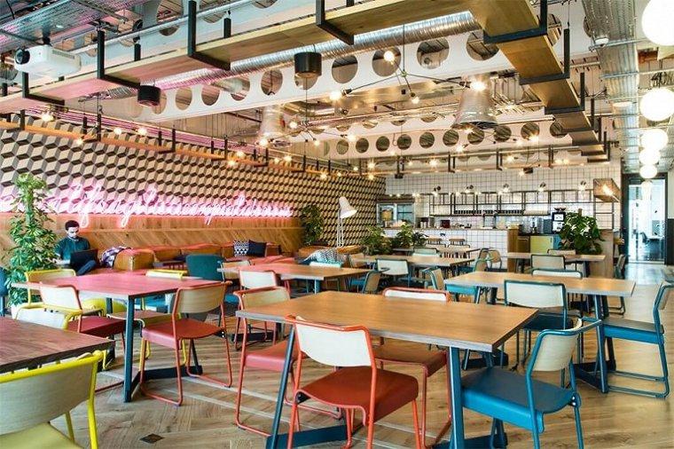 咖啡厅风格的联合办公空间-帕丁顿区WEWORK联合办公室室内实景图 (4)