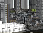 中式风格山地城市综合体SU模型