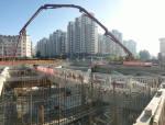 哈尔滨地铁项目工农大街站喜封金顶