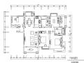 美式风格中南世纪城三居室住宅设计施工图(附效果图)