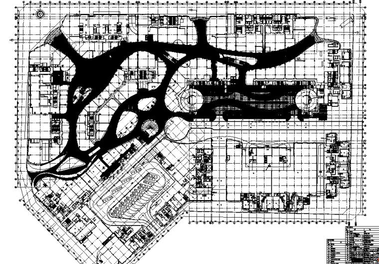 [深圳]壹方中心项目商业综合体室内精装修CAD施工图+效果图