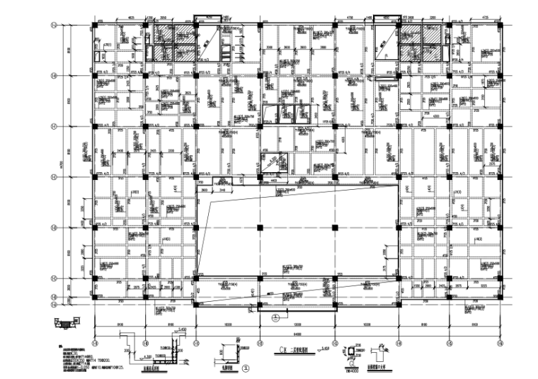 [江西]钢混框架结构医院门急诊楼建筑结构施工图(CAD、35张)