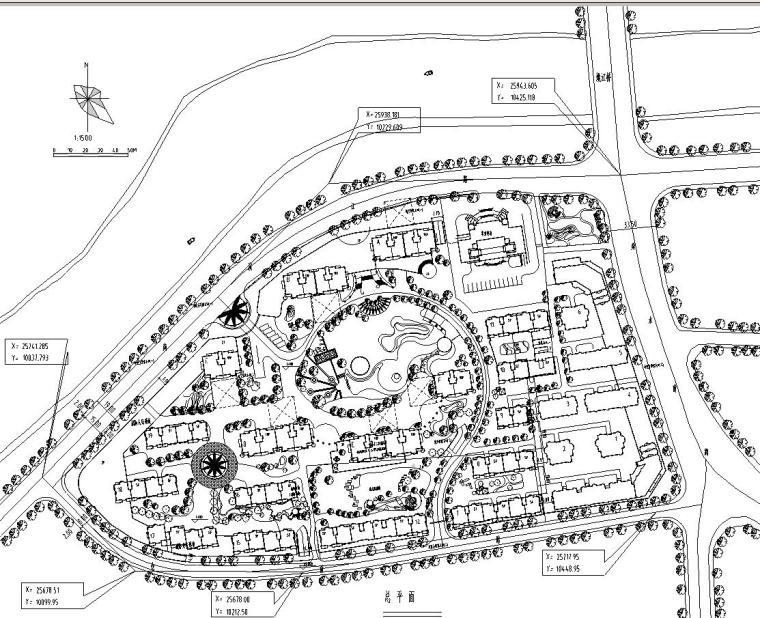 [广东]深圳鸿瑞花园住宅小区景观施工图设计(CAD+62个)