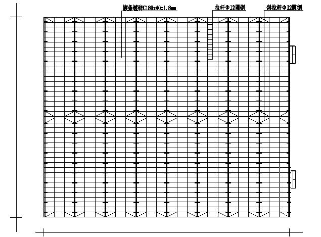 100米x50米门式钢架结构施工图(CAD,24张)