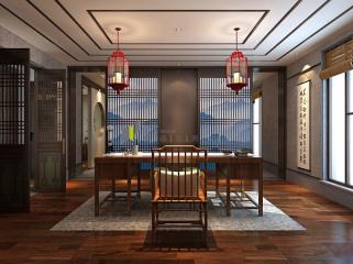 济南新中式风格的办公空间