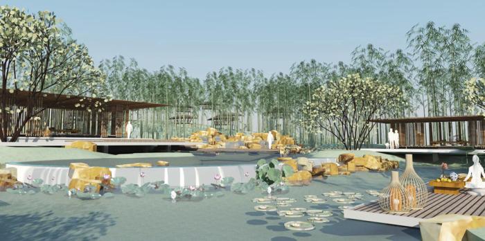 """[湖北]""""海绵城市""""生态湿地公园景观设计方案"""