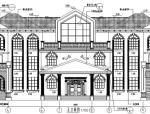 大型欧式中庭别墅施工图全集