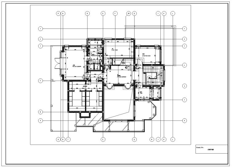 上海欧式风格三层庄园别墅室内设计施工图
