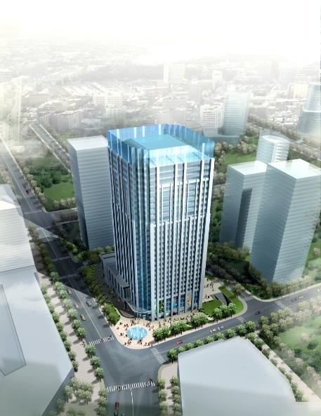 [江苏]南京百汇国际办公楼方案设计(CAD+文本)