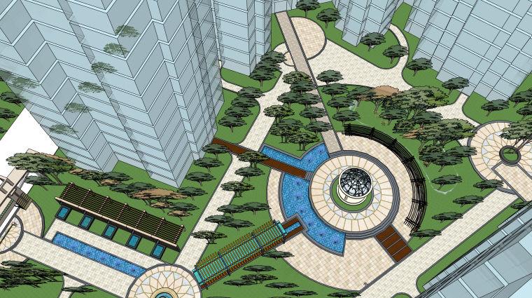 超精细!居住区建筑景观设计模型_7