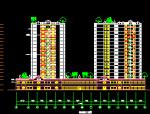十八层框剪结构电梯商住楼建筑图纸