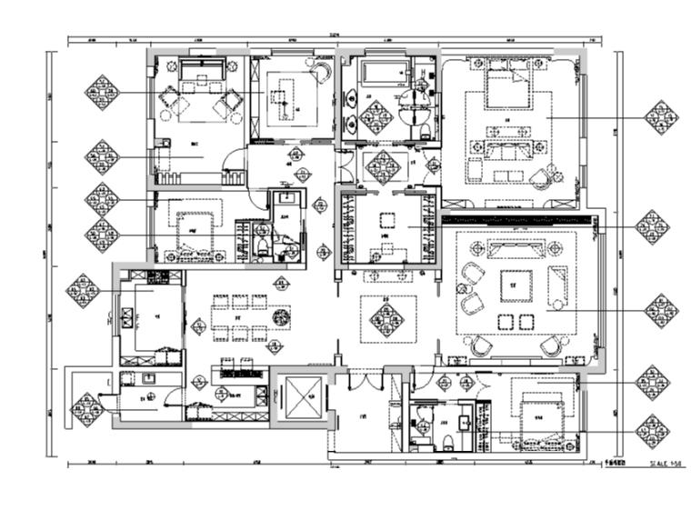 简约风格样板房设计施工图(附效果图)