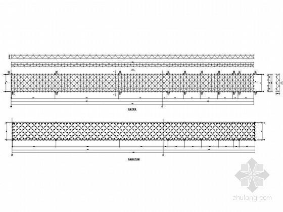 [浙江]双层空间网架结构广场结构施工图