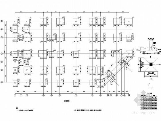 两层框架结构小区菜场结构施工图