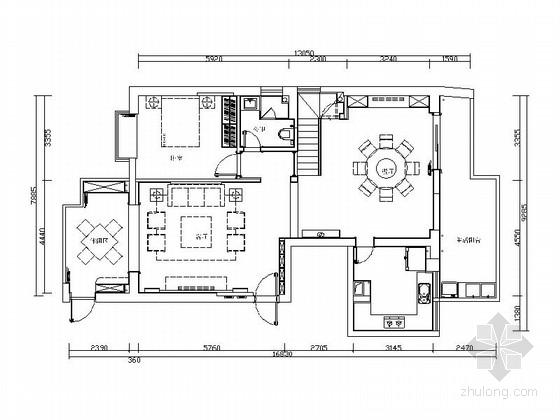 [原创]厦门新中式复式室内施工图(含效果图)
