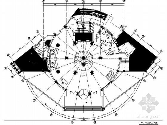 [湖北]休闲假日酒店圆形大堂装修施工图(含效果图)