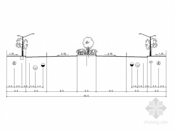 [云南]城市道路路基路面工程设计通用图36张(人行道 无障碍)