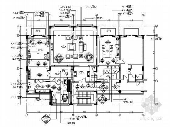 [廣東]豪華酒店客房裝修CAD竣工圖(含實景)