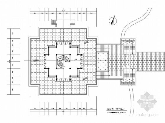 [浙江]城市广场观景阁景观设计施工图-广场景观施工图