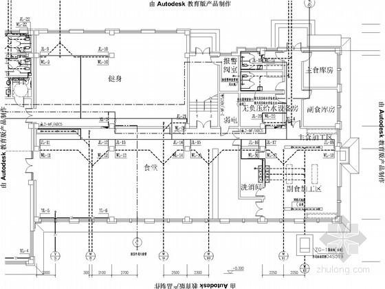 [辽宁]老年公寓给排水及消防施工图(雨水系统)