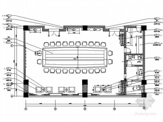 [盐城]汽车产业学院高档大会议室装修施工图