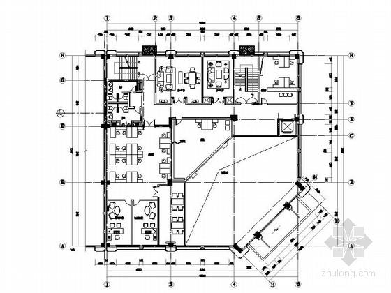 [青岛]欧陆风格三层售楼处室内装修图