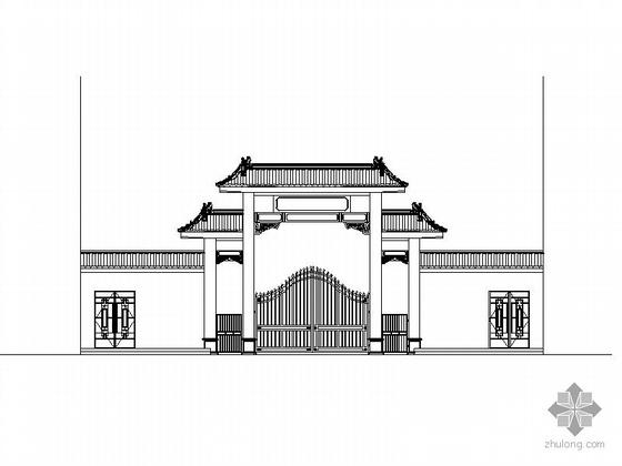[陕西]某市国土资源局门房设计方案CAD图(含效果图)