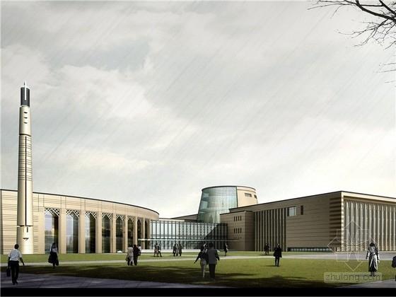 [宁夏]庭院式回族民俗博物馆建筑设计方案文本(多个方案)